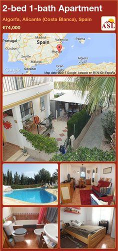 2-bed 1-bath Apartment in Algorfa, Alicante (Costa Blanca), Spain ►€74,000 #PropertyForSaleInSpain