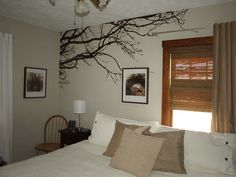 Large Wall Tree Nursery Decal Oak Branches Wall Art 1130 (5 feet wide). $34.99, via Etsy.