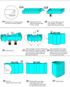 Learn how to make an origami 26 Page Book created by Hans Birkeland.  Free origami instructions and DIY projects.