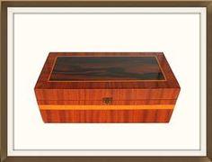 Large Vintage Mahogany & Satin Wood Jewellery Box  £150