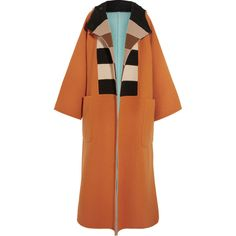 Max Mara Vivetta oversized reversible felted wool coat ($2,295) ❤ liked on Polyvore featuring outerwear, coats, maxmara, oversized hooded coat, maxmara coat, oversized coat and multi colored coat