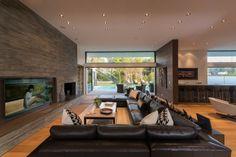 salon design dans la maison contemporaine