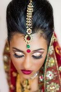 Close-up of the bridal glam I did on this gorgeous model. Bridal Hair & Makeup: @nickihalamua Indian Bridal Outfit: Ohm by Neena and Astha www.halabeauty.com