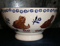 "Emma Bridgewater Very Early Cats French Bowl 1980s  zo""n mooie heb ik ook"