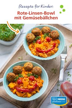 rezepte-fur-kinder-rote-linsenschale-mit-gemuseballchen/ - The world's most private search engine Law Carb, Diet Recipes, Healthy Recipes, Lentil Recipes, Eggplant Recipes, Chicken Wing Recipes, Butter Chicken, Easy Cooking, Eating Habits