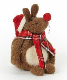 Look at this #zulilyfind! Red Sitting Mouse Figurine #zulilyfinds