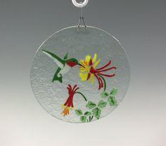 Hummingbird Suncatcher by Richmondglassworks on Etsy