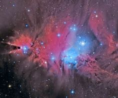 outer space red stars shooting star HD Wallpaper of Space & Planets
