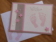 Babykarte zur Geburt/Taufe von Tanjas Kreativecke auf DaWanda.com
