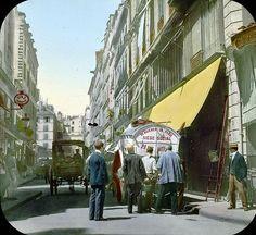 Paris 1er, France, 1900 - Rue Gomboust près du marché Saint Honoré