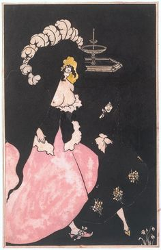 Aubrey Beardsley 'Messalina and her Companion', 1895