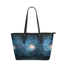 EvF Beautiful Spiral Nebulous Leather Tote Bag/Small (Model 1640)