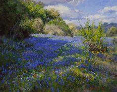 Artist: Mark Haworth - Title: Fields of Blue
