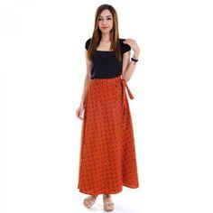 c83f2935ff Ethnic Maroon and Black Cotton Wrap Around Skirt Wrap Around Skirt, Indian  Ethnic, Western