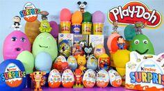 30 Play Doh Kinder Surprise Eggs Spongebob Squarepants Peppa Pig Simpson...