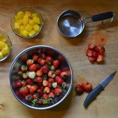 Easy summertime strawberry mango sauce for crepes or pancakes-HEART&CO. blog 019