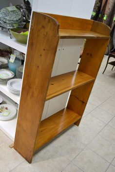 "Pine Open Backed 3 Shelf Bookcase - Time to get organized! 33.5"" Wide x 9.75"" Deep x 49"" High - Nicely constructed."