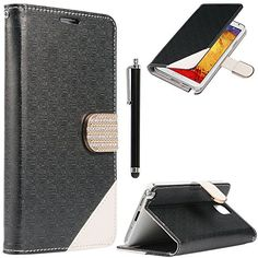 Note 3 Case,Galaxy Note 3 Case - ULAK Maze Pattern PU Leather Wallet Case for Samsung Galaxy Note 3 Note III N9000 w/Screen Protector and Stylus (Black) ULAK http://www.amazon.com/dp/B00O0KSLQ6/ref=cm_sw_r_pi_dp_CFGkub0ZVRFSF