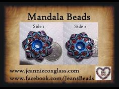 Making a Mandala Lampwork Bead by Jeannie Cox - YouTube