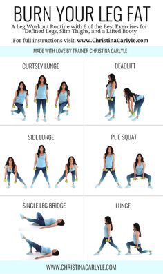 Leg workout routine for women. Burn calories and shed leg fat with this effective and quick home workout routine. Source by The post The Best Leg Workout For Women to Lose Leg Fat appeared first on Roisin Health Fitness. Leg Workout Women, Best Leg Workout, Leg Workout At Home, Workout Routines For Women, Home Exercise Routines, At Home Workouts, Workout Plans, Leg Workout For Beginners, Post Workout