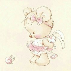 Cute Images, Cute Pictures, Lapin Art, Snow Theme, Baby Posters, Cute Cartoon Characters, Halloween Drawings, Baby Album, My Little Baby