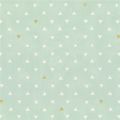 Mint and Gold Triangles Fabric by the Yard | Gold Fabric | Carousel Designs
