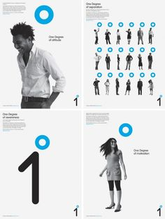 One Degree corporate identity design in white and blue