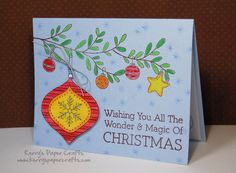 it's not just Craft Fair time...it's also Christmas Card time! I love making Holiday Cards. Here are a few fun ones that I've come up with recently:  This little guy was created using Basic Grey's Jovial collection. Totally not my normal style - but I am LOVING the papers &