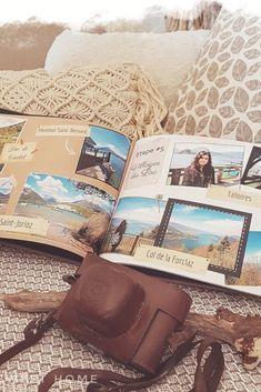 Album Photo Voyage, Bullet Journal Halloween, Album Photo Scrapbooking, Social Media Digital Marketing, Good Tutorials, Travel Scrapbook, Photo Book, Mini Albums, Creations