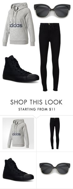 """Bez naslova #5"" by armina-244 ❤ liked on Polyvore featuring adidas, Frame and Converse"