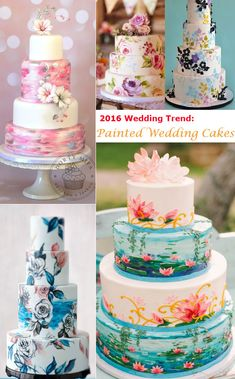 27 Eye-popping Painted Wedding Cakes For 2016