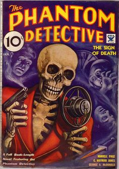 Phantom Detective, Pulp Magazine - 1934, January by kocojim, via Flickr