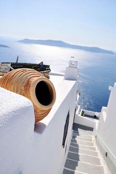 Santorini, Greece, white & blue