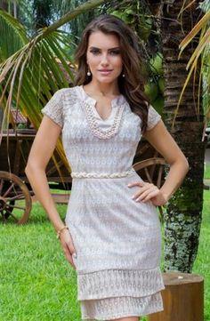 600453 - Vestido Executiva Bruna - Floratta Modas