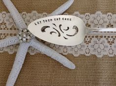 Vintage Hand Stamped Pie Server Let Them Eat by BlueCrabb on Etsy, $25.00