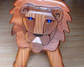 Wood Lion Bank Hand Made From Reclaimed Woods