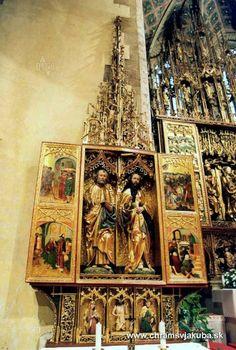 Jakuba v Levoči - the largest wooden altar in the world - Altar of Master Paul in Levoča, Slovakia Eglise St-Jean dans la ville de Levoča , Slovaquie Bratislava, Continental Europe, Heart Of Europe, Central Europe, Kirchen, Eastern Europe, 16th Century, Czech Republic, Prague