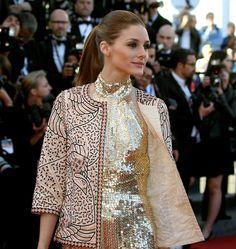 Olivia Palermo, in Roberto Cavalli, at the 66th Cannes Film Festival | The Immigrant premiere