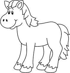 Art Drawings For Kids, Art Drawings Sketches, Drawing For Kids, Easy Drawings, Farm Animal Coloring Pages, Easy Coloring Pages, Cat Coloring Page, Farm Animal Crafts, Farm Animals