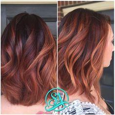 reddish brown hair balayage - Google Search