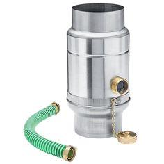 """Automatický titanzinkový lapač dešťové vody s hadicí pro okapové svody průměru 120 mm zachytává vodu přímo do sudu či nádrže. Uvnitř sběrače je """"límeček"""", do kterého stéká zachycená voda vedená svodem, odtud je vývod do hadice, která se připojí do nádoby. Okapi, Shop, Store"""