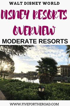 Disney Moderate Resorts overview and details for families planning their Walt Disney World vacation in Orlando, Florida. Disney Value Resorts, Disney Hotels, Walt Disney World Vacations, Disney Travel, Family Vacations, Family Travel, Disney Vacation Planning, Orlando Vacation, Disney World Planning
