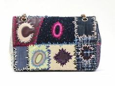 ef794dff3c58 Chanel Fabric Patchwork Chain Shoulder Bag Multi-Color A49129 (38175 #women  #woman