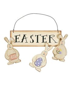 Love this Easter Sign & Bunny Magnets on #zulily! #zulilyfinds