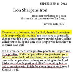 Iron sharpens Iron...I love this!