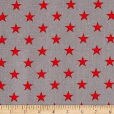 All Stars Grey/Red Sold by the Fat Quarter by JRsFabricStash, $4.00