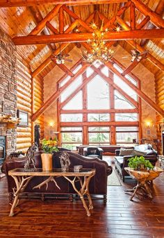 Custom Hybrid Log Homes & Timber-Frame Homes – Photo Gallery by Wisconsin Log Homes - Greatrooms - Wisconsin Log Homes