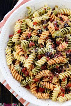 Pasta salad tri colored rotini black olives tomatoes - Olive garden italian salad dressing recipe ...