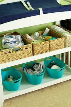 organizing a changing table