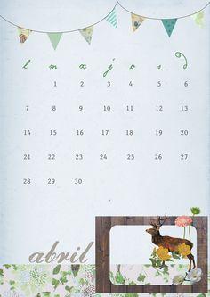 imprimible: calendario de abril